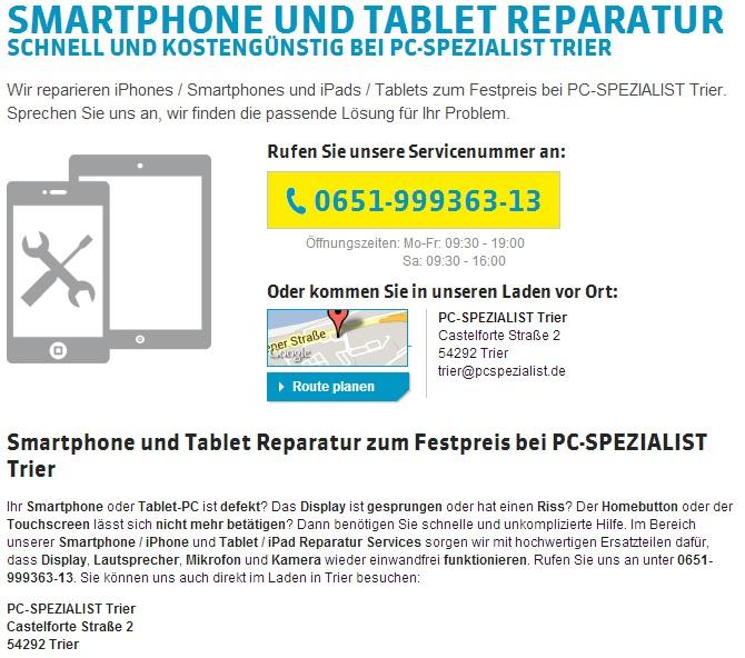 Smartphonereparatur