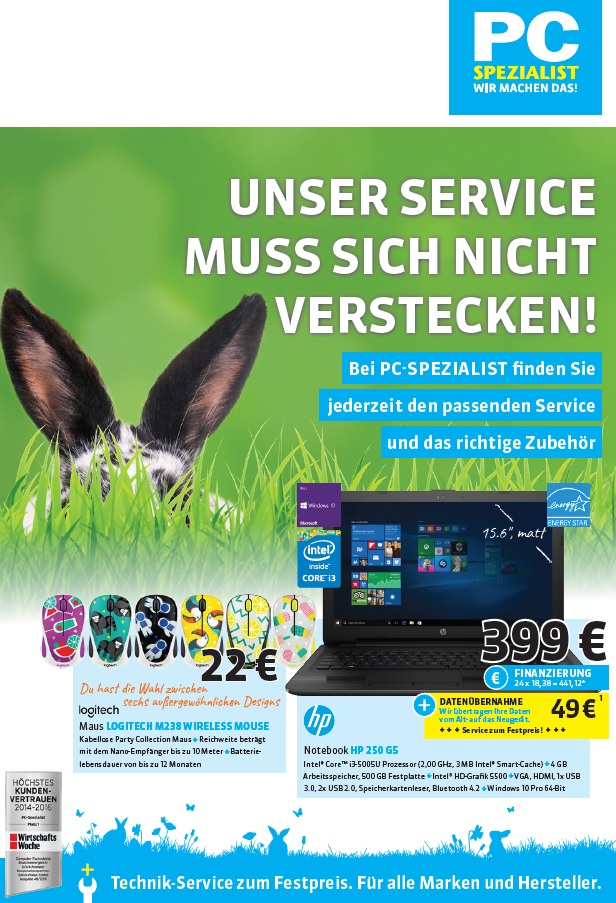 PC-Spezialist Trier Flyer April 2017